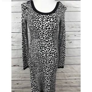 French Connection Leopard Print Sweater Dress-12
